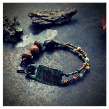 rakkaus riimuteksti rannekoru - love runic inscription bracelet
