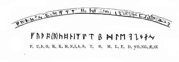 Futhark alphabets on a chalice - Riimuaakkoset pikarissa